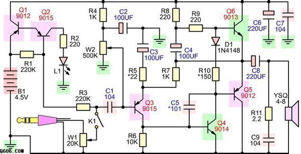 其作用是把微弱信号放大成幅度值较大的电信号, 也用作无触点开关.