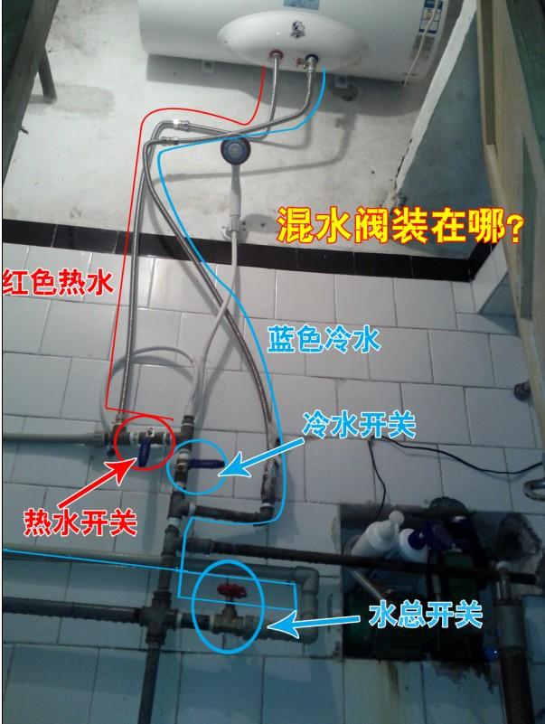 万和电热水器 冷水出水正常 热水出水小! 求助!图片