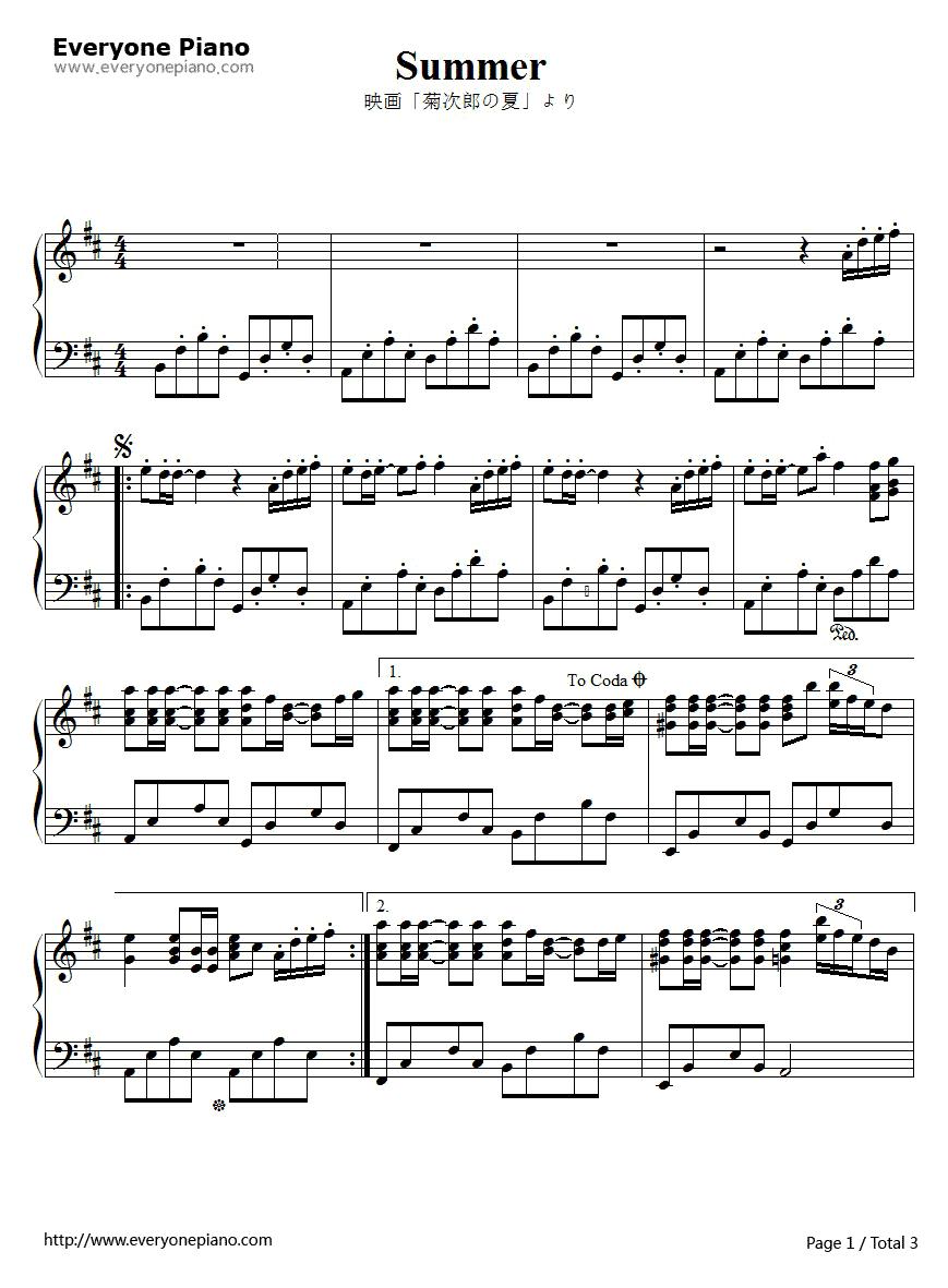 你好漂亮钢琴谱