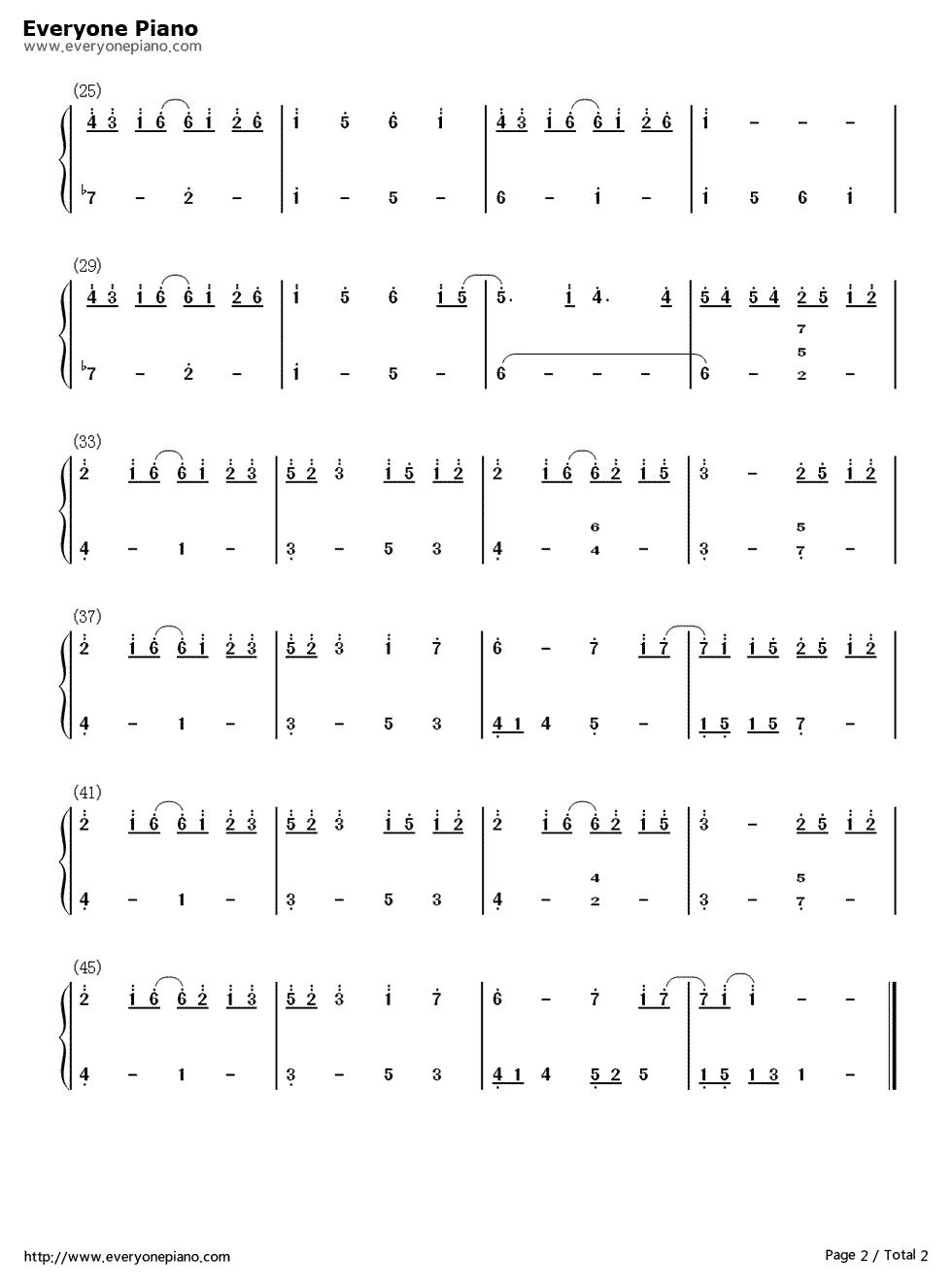 团子大家族钢琴谱(简谱)
