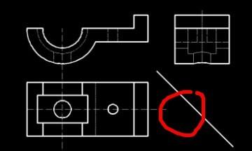 请教一个CAD画三视图的技巧圆形虹吸倒管道式cad图图片