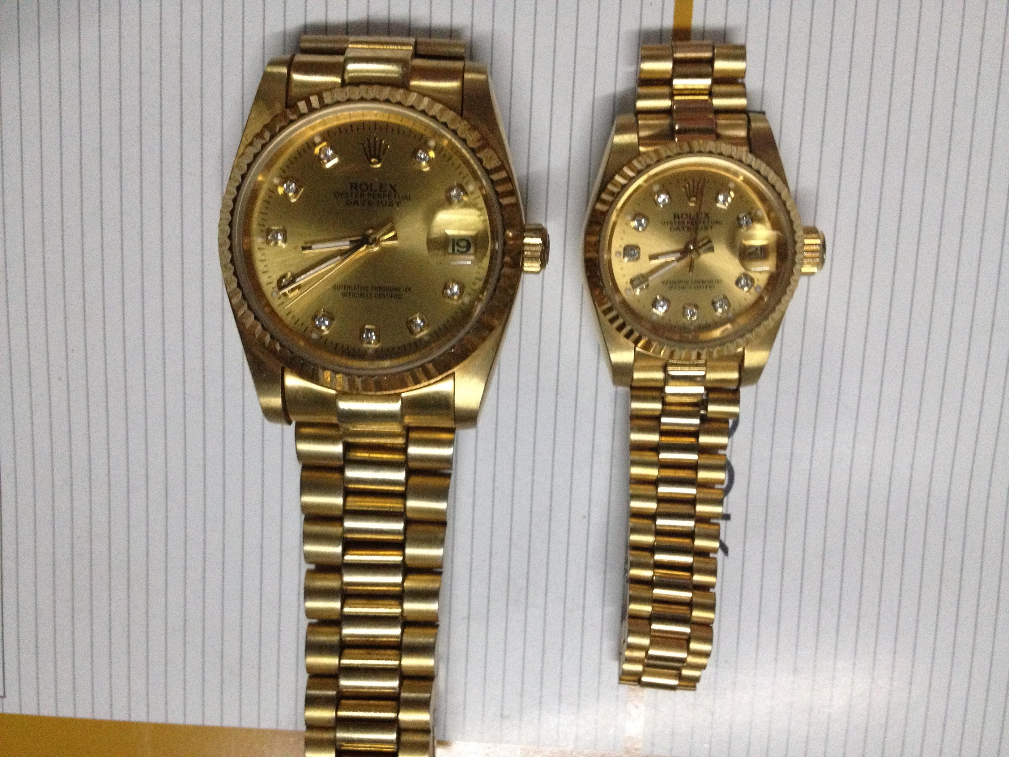 一款80年代劳力士情侣手表珍藏到现在能值多少钱?保存图片