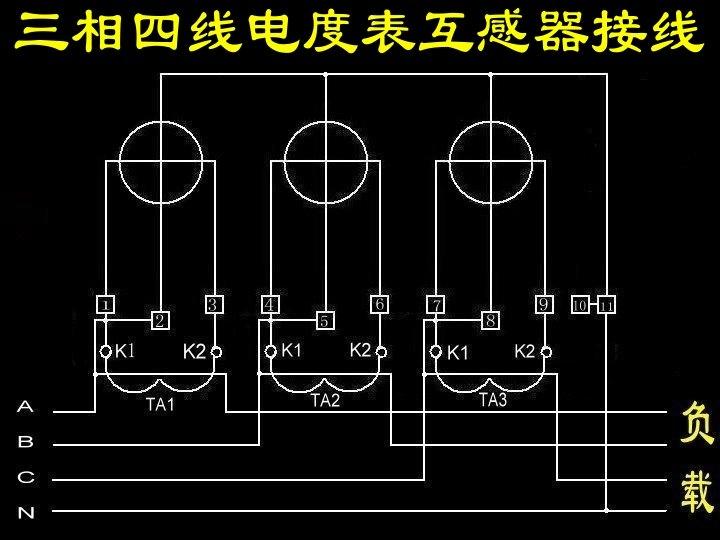 一级 配电柜三相四线电表,互感器,电流表电压表的接法