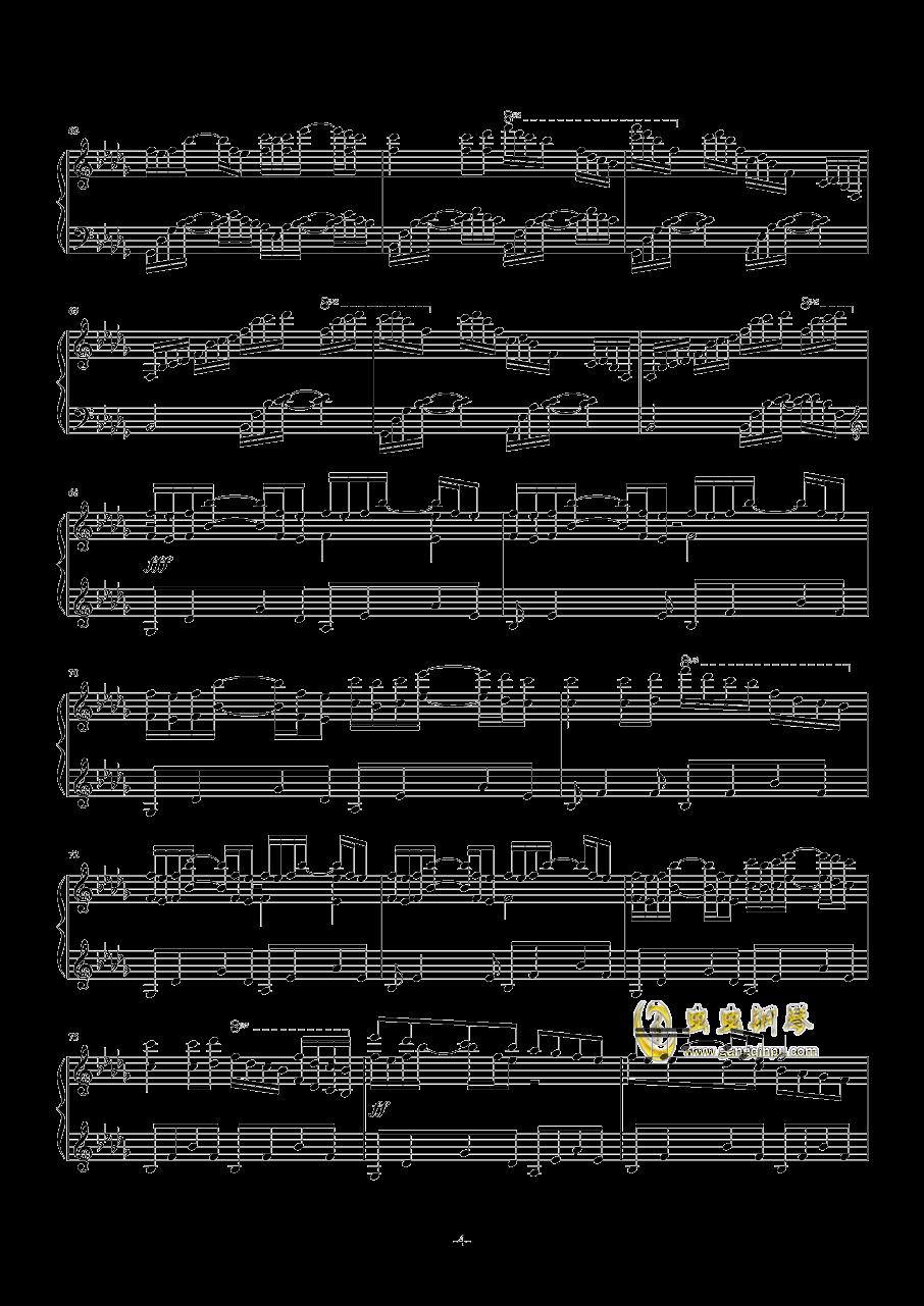求love letter钢琴曲谱