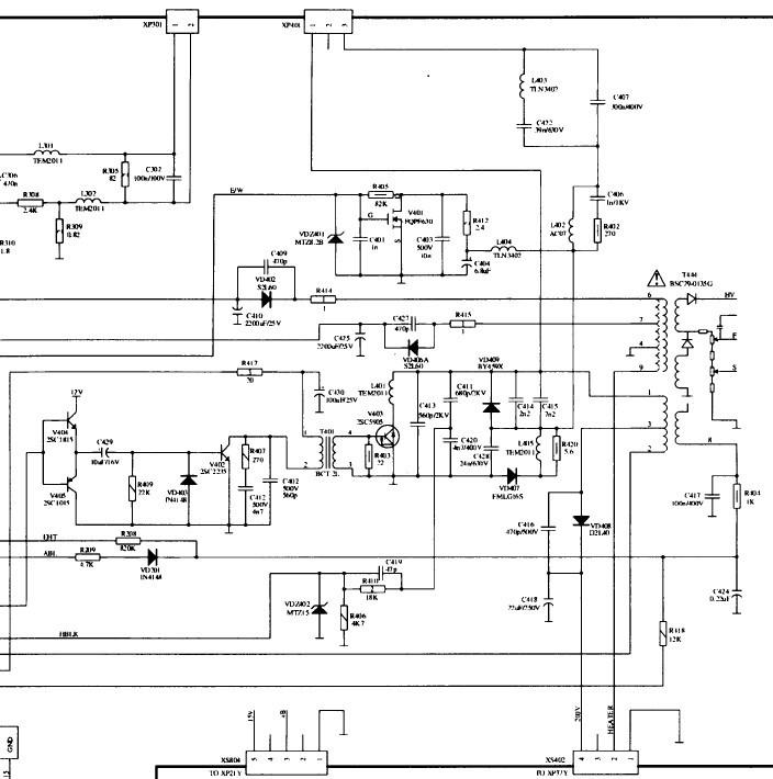 海信hdp2933电视机行输出电路图