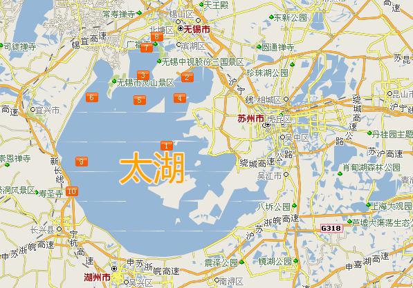 苏州太湖有多大?图片