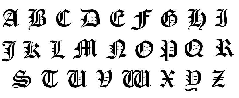 l的字母,片头那个横竖交叉的death note的字体还有笔记封面的字体.