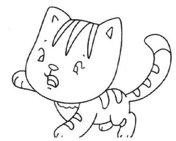 小猫简笔画图片大全可爱