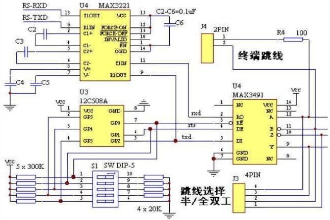 rs232 转 rs422 原理图谁能提供一份?