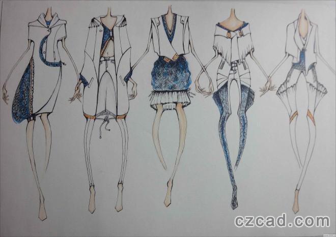 求服装设计图,还有手绘服装设计怎么画好?