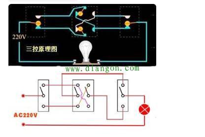 求一灯 三控 四控的电路图