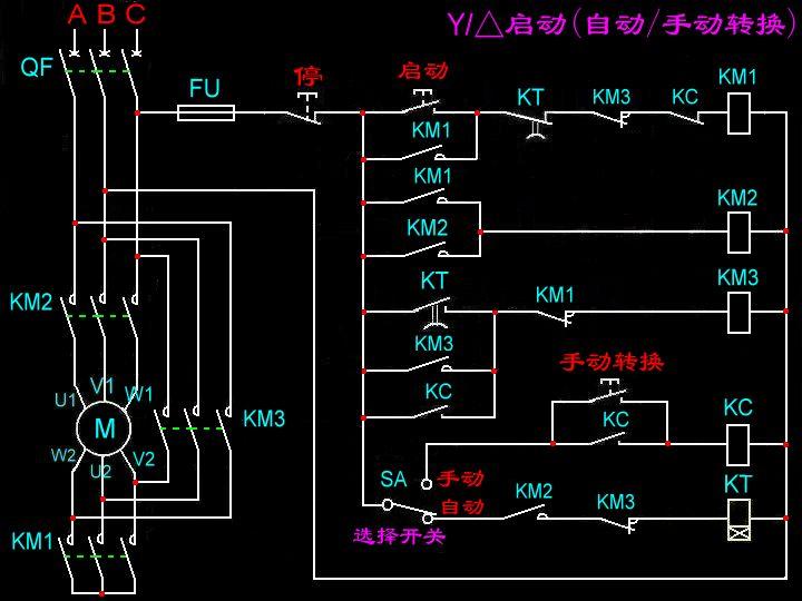 哪里可以找到星三角降压手自动启动控制电路图图片