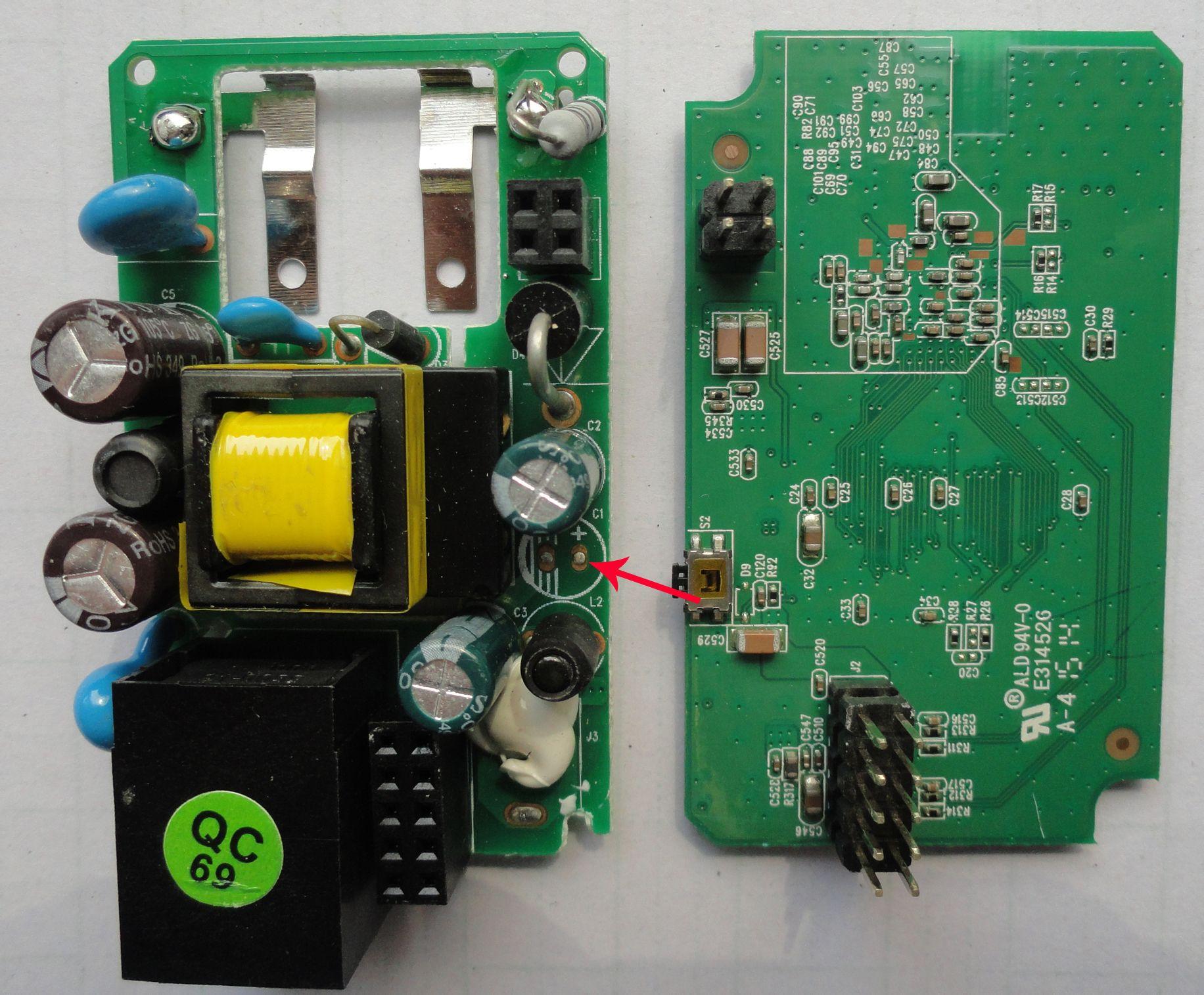 如何在电路板上找变压器变压,整流后的直流电的正负极