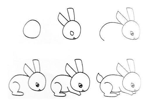 小兔子怎么画
