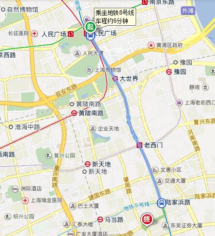 上海人民广场到制造局路181号怎么做车去
