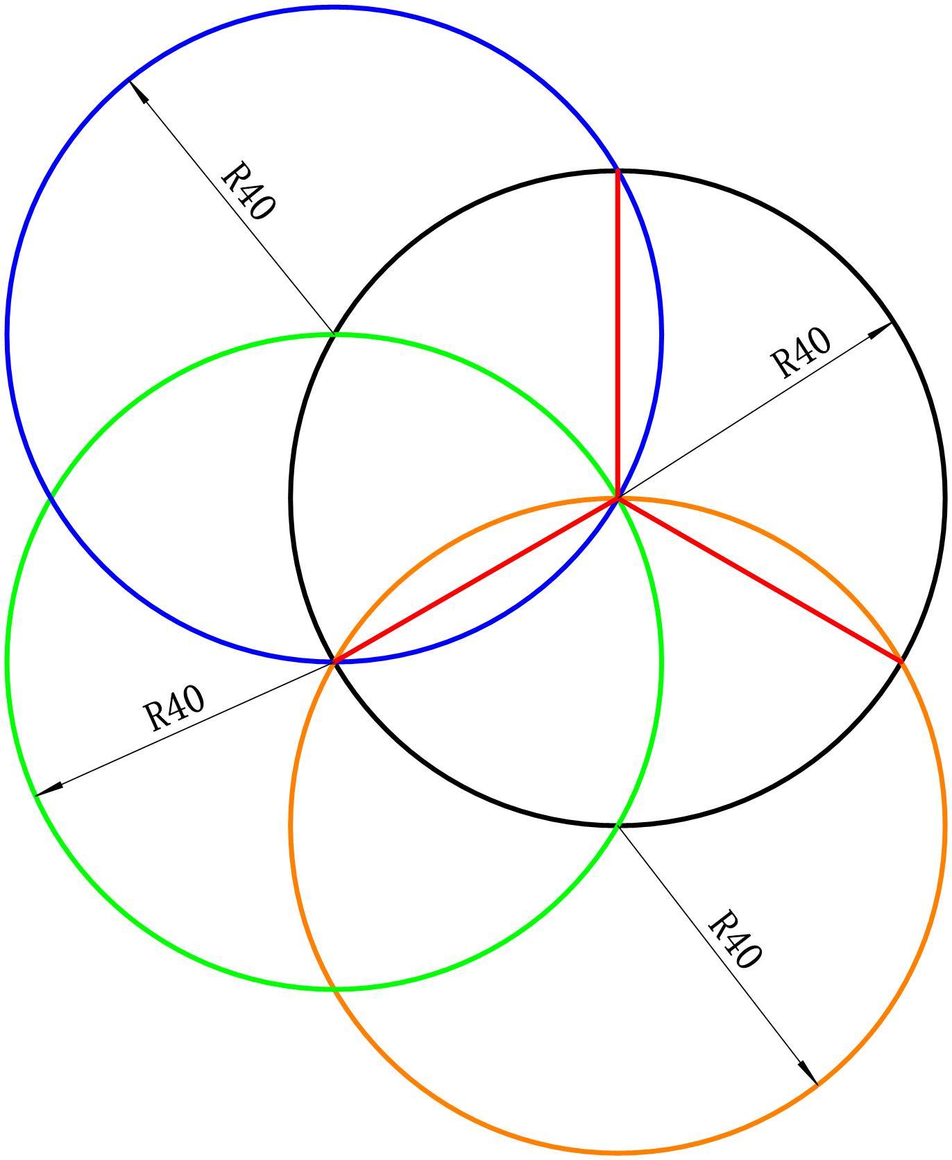 已知圆的直径是80,把圆分成3等分,而且只能用尺子和圆规.这个怎么算