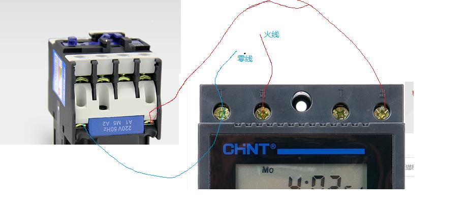380v2510交流接触器和时控开关接线图