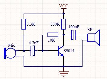 跪求三极管音频信号放大电路,最好简单的