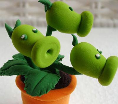 怎么用粘土做植物大战僵尸