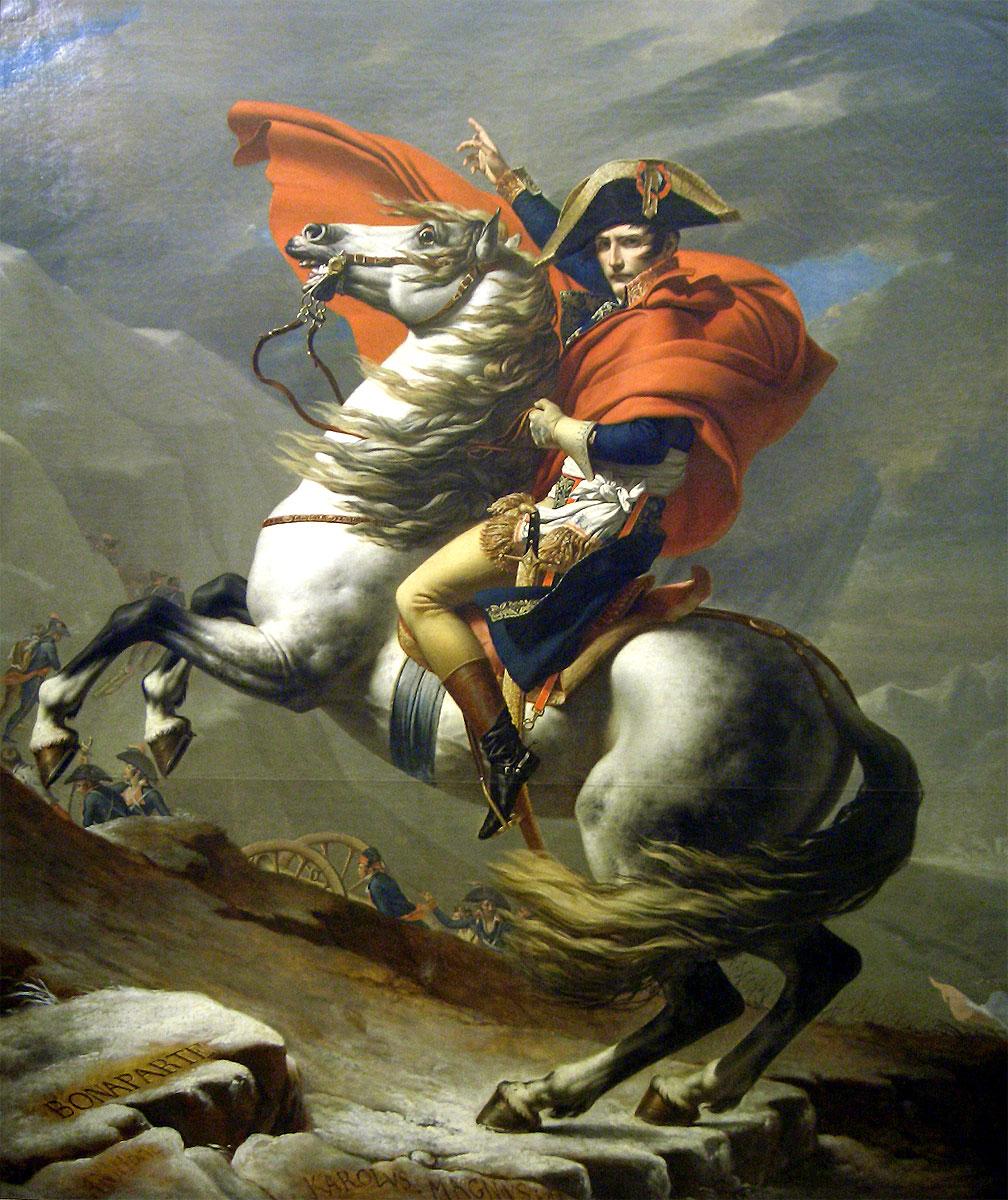 求一张拿破仑骑着马的油画,大涨一点,鲜艳一点,不要有图片