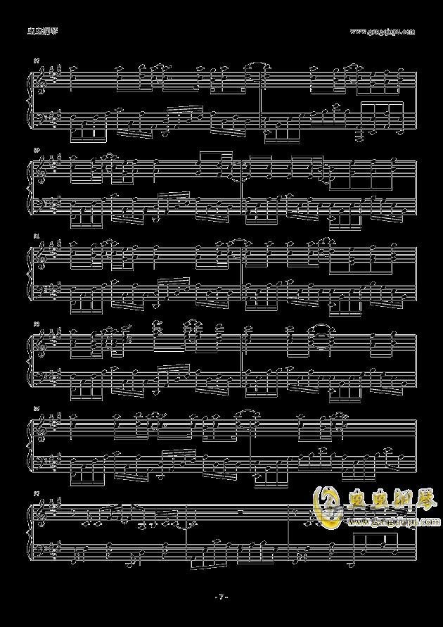 平凡之路钢琴谱子