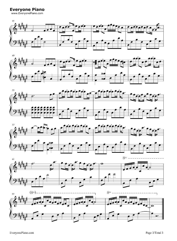 求《起风了》钢琴谱(ω)