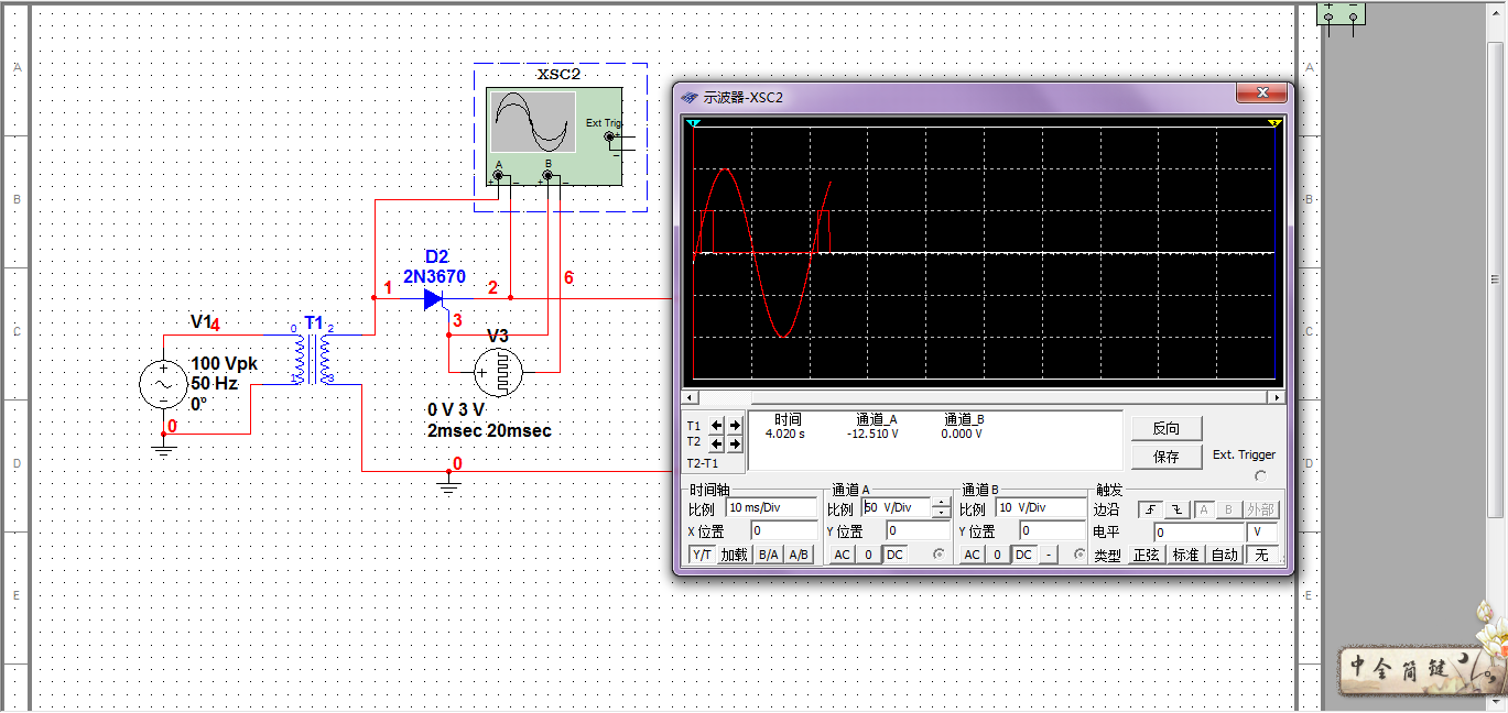 multisim10.0_multisim 10.0,为什么按照这样设置晶闸管打不开?