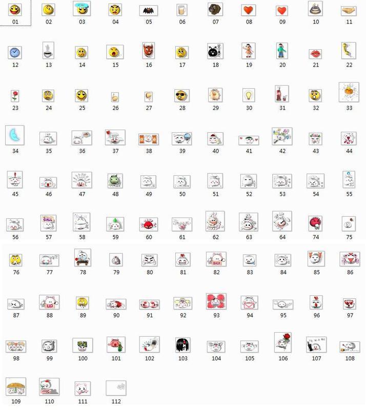 梦幻西游数字表情表,不是下载包!图片