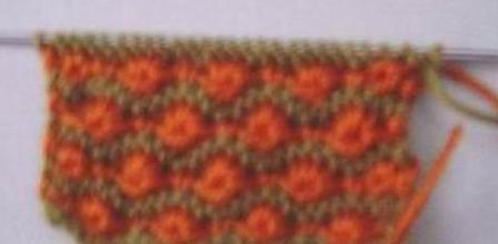 棒针毛衣编织花样中的小菊花怎么织的