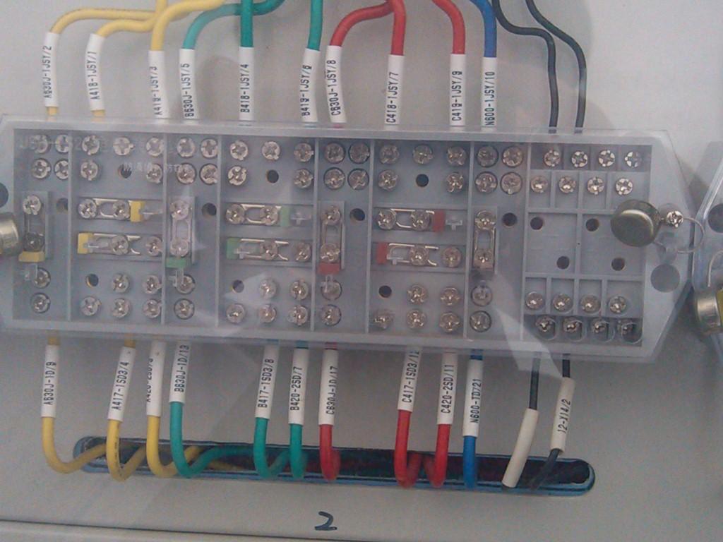 请问图片的接线端子,电气专业的怎么叫呢,看到别人的配电柜中的.