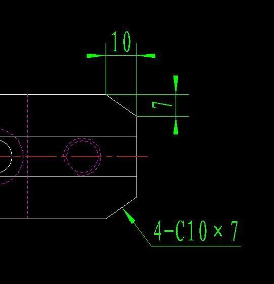 倒角们!在CAD标注不等边大神。我这样标cad中米v倒角5园路图片