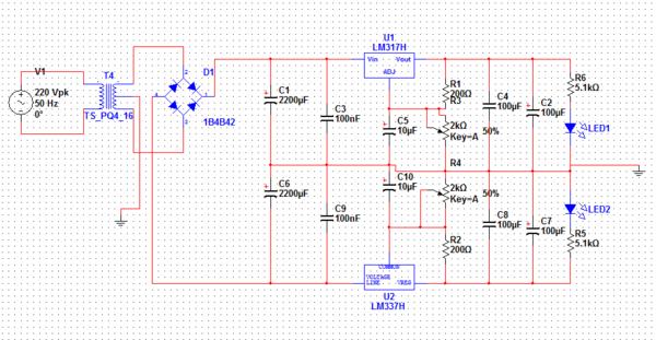 求助啊!±5伏到±15伏直流稳压电路设计