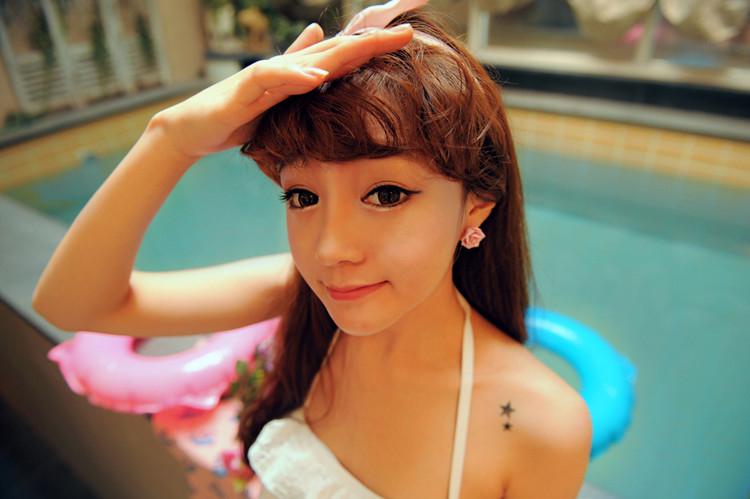 韩国网络红人朴寒星的妆是怎么画的?具体指点一下呗