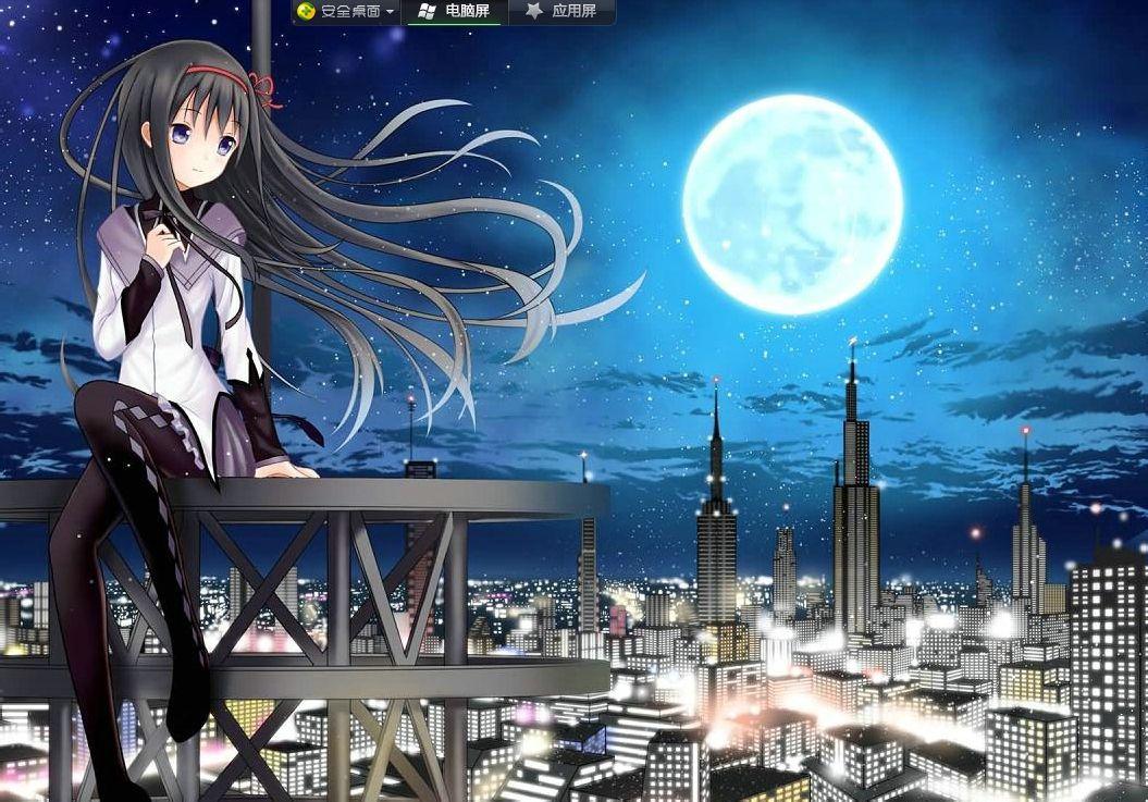 夜晚的�:-�_有什么夏日星空或者夜晚的图片~~要动漫的