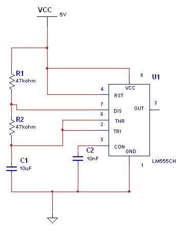 展开全部 我这里有一个用555电路多谢振荡器产生秒脉冲的电路,请看看