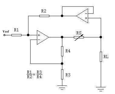 实用的恒流源电路如下图,只用单电源即可工作(正负双电源也可以)其中