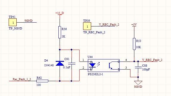 下面是一个光耦隔离电路的原理图,左边一半看不懂.请教.protel