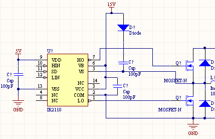 请教一下ir2110驱动mos管电路的问题