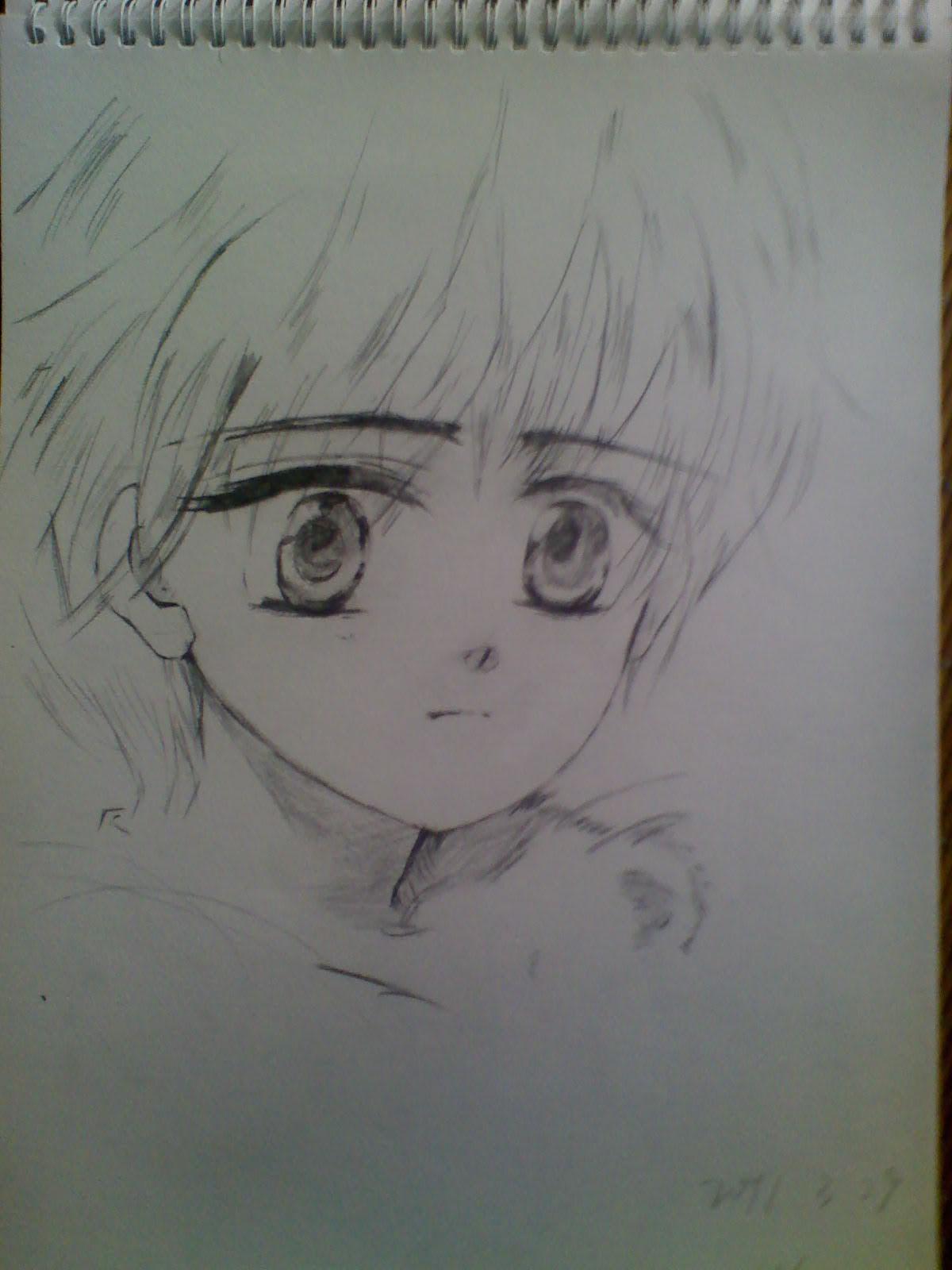 可爱动漫素描qq男生头像.有的发我邮箱1516193913@qq.