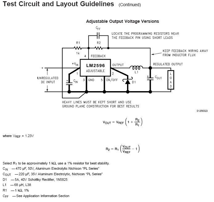 lm2596 -adj的电路图
