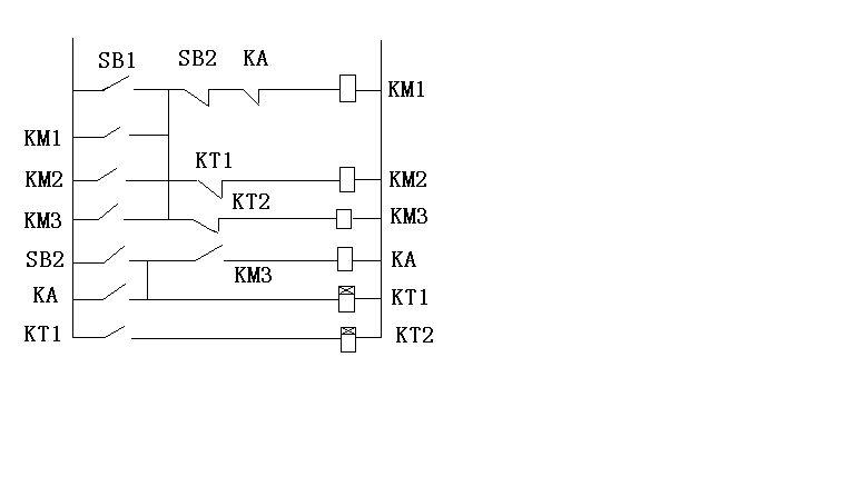 要求启动时三台电动机同时启动停机时依次相隔20秒停机 求图电路图