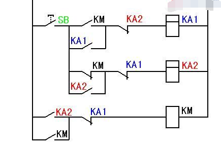 图是一个开关控制电机的起动和停止电路图,也叫单按钮控制起停.
