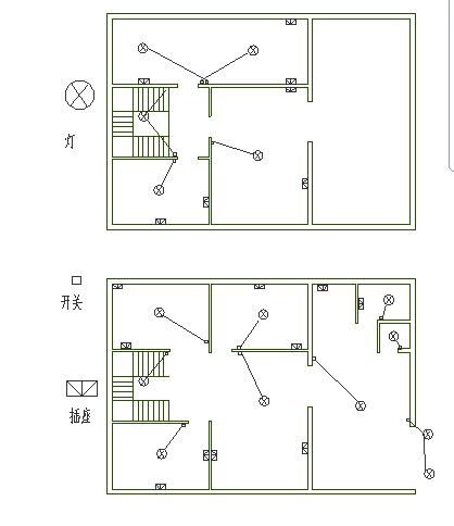 求房屋电路图,一层100平米,上下两层,帮忙设计下房屋内电路