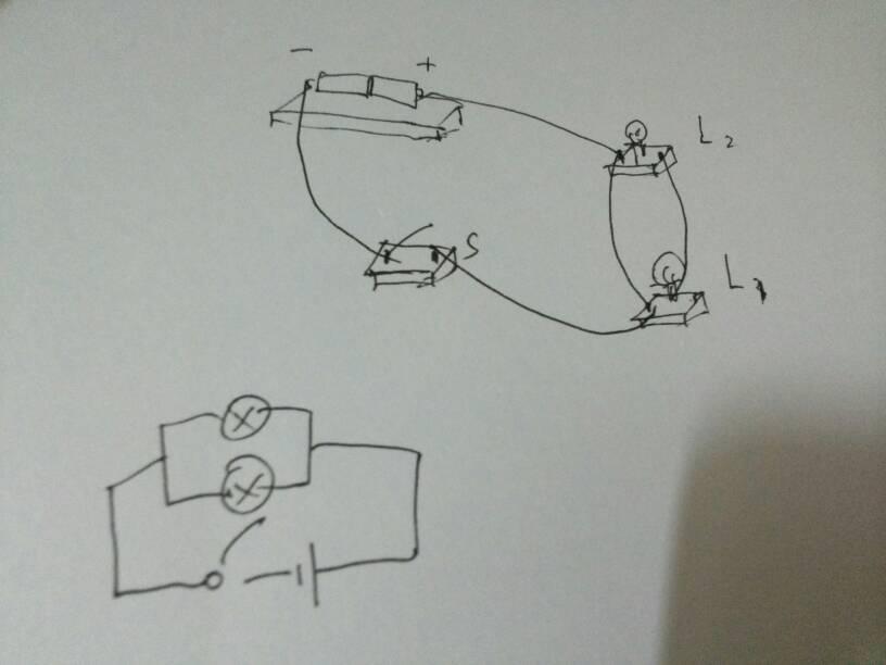 求解一道物理题,画并联电路的电路图和实物图