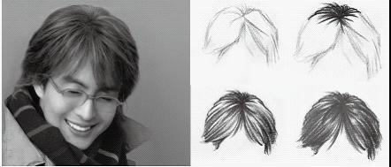 素描现代男生头发的画法分解步骤