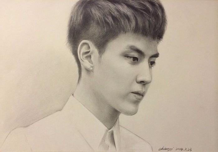 吴亦凡铅笔画图片