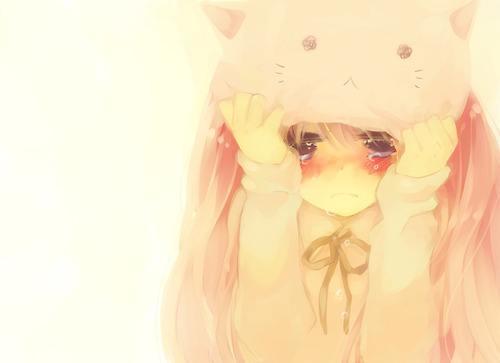 求几张这种动漫女生哭泣的图片(伤心的也行噢)