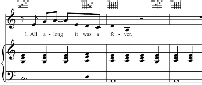 答案钢琴谱五线谱