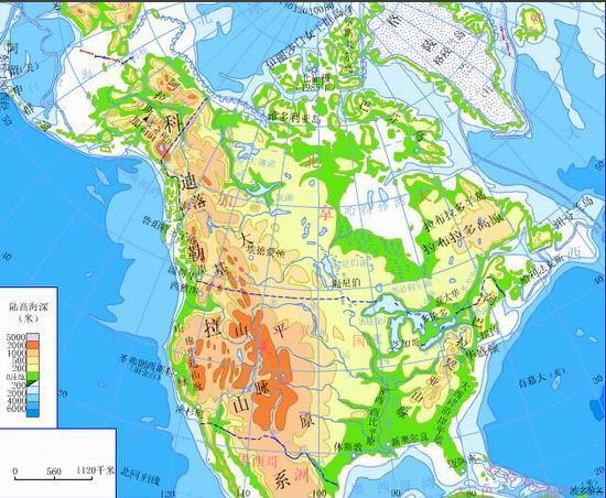 展开全部 北美洲地形明显地分为三个南北纵列带,即西部是高大的山系