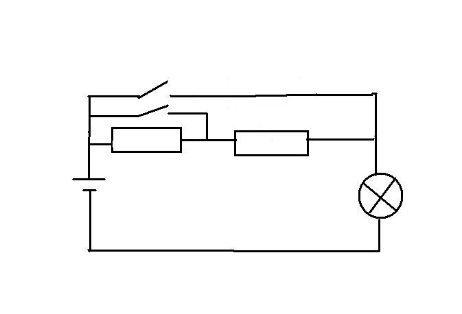 怎么控制台灯亮度【电路图】要求三档并用两个定值电阻和灯泡和两个